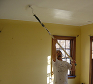 Our crew member providing interior painting services in Minneapolis, MN